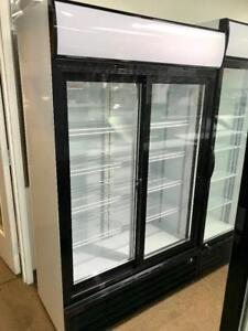 "Frigo 2 portes Coulissante vitree Avec Cles et Serrure! 44""  Double Glass Door Refrigerator  Refrigerateur / Frigidaire"