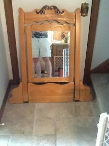 Antique oak mirror from Port Carling