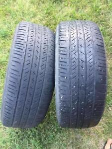 2 Bridgestone EL400 - 205/55/16 - 60% - $40 For Both