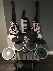 Rock Band + Guitar Hero (Games & Instruments)