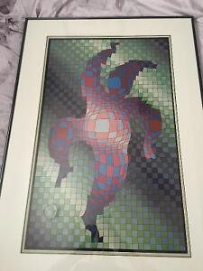Pre 1965 art pieces by Victor Vasarely and Doris Cyrette