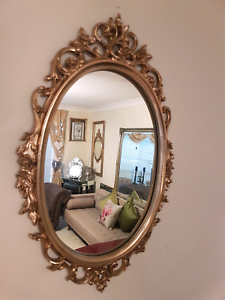 Vintage decorative gold framed mirror Currans Hill Camden Area Preview