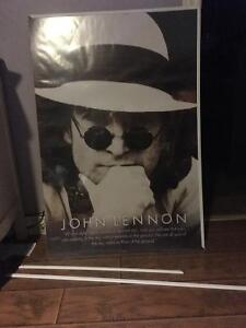 John Lennon Poster with Frame Belleville Belleville Area image 1