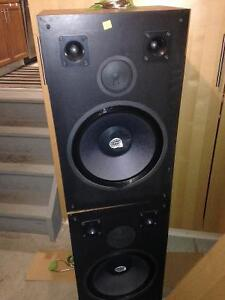 Massive Stereo Speakers (400 watts)