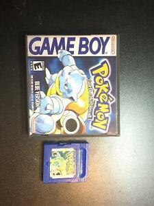 Pokemon Blue Gameboy with Custom Game Case