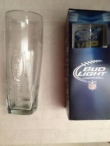 Bud Light Collectable NFL 16 oz Drinking Glasses