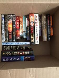 Lot of books - Nora Roberts, Sandra Brown, James Paterson + more