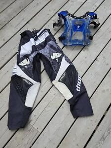 Dirt bike pants and chest protector