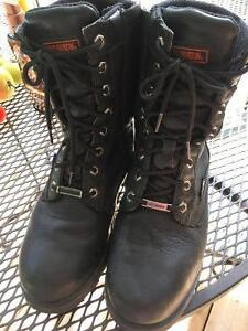 HD leather and waterproof men's leather boots, size 9