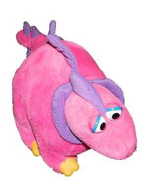 Vtg Malibu Fun Stuffed  Stegosaurus Pink Purple Plush Stuffed Dinosaur Toy 17
