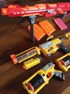 NERF Gun Lot 13 Guns CS 6 12 35 Longstrike Rampage Raider Deploy Maverick  Ammo
