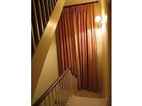 Elegant Laura Ashley Curtains - very long - Triple Pleat, Made to Measure