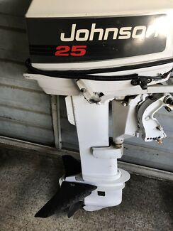 Johnson 25 hp long shaft 2 stroke outboard
