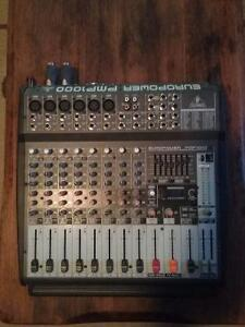 Behrinber 12 channel powered mixer PA System