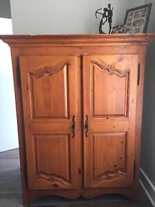 100% wooden armoire, hand-carved.