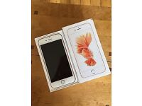 APPLE IPHONE 6S 64GB,ROSE GOLD, FACTORY UNLOCKED, BOXED IN MINT CONDITION