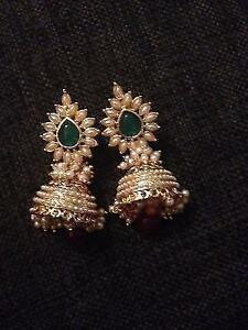 Beautiful gold plated pearl earrings
