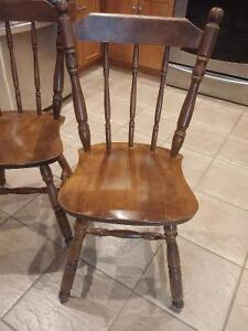 wood dining chairs Cambridge Kitchener Area image 2