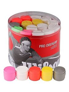Wilson Pro overgrip and Kirschbaum co-poly tennis strings 17g