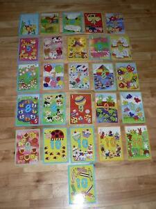 ÉDUCATIF! 26 cartes puzzle pour apprendre à compter de 2 à 5 ans