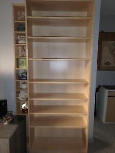 Ikea Bookcase with 2 extra shelves