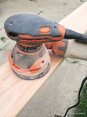 An electric sander will save you tons of time and energy when sanding wood. (image: Remodelaholic).