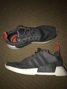 adidas NMD R2 Primeknit White/Red Laced