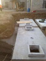 Septic design and install, Water holding tanks