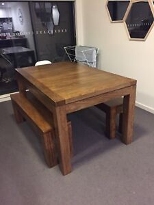 Solid Mango hardwood dining table Turrella Rockdale Area Preview