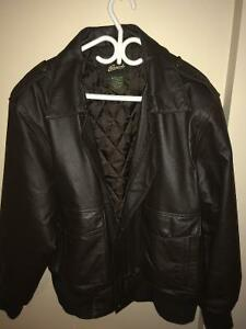 Men's Leather Jacket In Large.