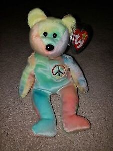 6190ed2f90a TY Peace Bear Beanie Baby!! Rare with Tag Errors!