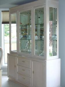 Solid Oak China Cabinet (2 piece)