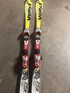 130 Volkl skis w/ marker 10 bindings