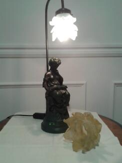 ***Victorian Lady Lamp complete with 2 shades ***