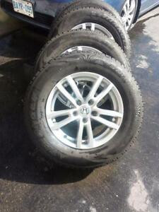 BRAND NEW HONDA CRV HIGH PERFORMANCE WINTER TIRES  215 / 70 / 16 ON HONDA OEM REPLICA  ALLOY WHEELS.