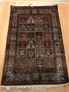 Persian Kashmir Rugs Silk and Wool ( Hand knotted ),More than 100