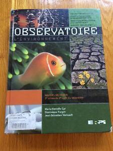 Observatoire manuel de l'élève et la boîte à outils