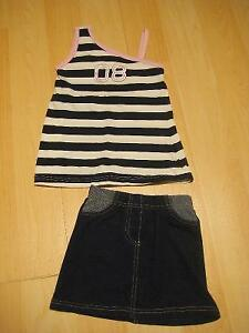 Two-Piece Jean Skirt Set (2T)