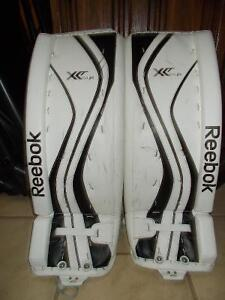 Jr Hockey Goalie Pads - Reebok Premier x24 Sz 28+1 Kawartha Lakes Peterborough Area image 1