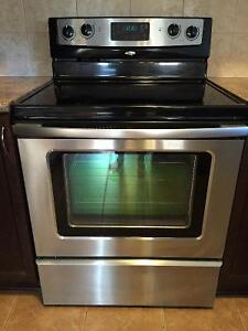 Whirlpool Stainless Fridge and Stove