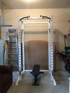 Power Body Commercial Power Rack Chin Up Bench Weights Bar