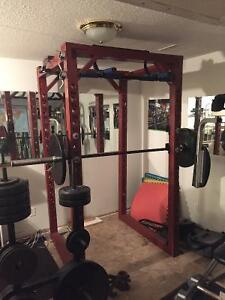 Olympic Weight Set/Squat Rack/universal weight machines