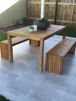 Timber outdoor dining table and bench seatsTimber Outdoor Bench seat   Outdoor Dining Furniture   Gumtree  . Outdoor Bench Seats Gumtree. Home Design Ideas
