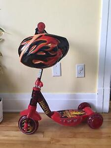 Huffy Firestorm Scooter and Helmet - Almost new / barely used
