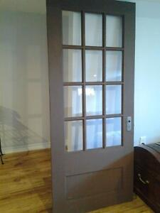 12 glass panel wooden door