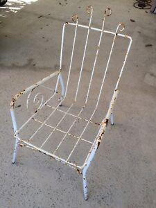 Vintage wrought iron outdoor armchair   Vintage armchair   would Kewdale Belmont Area Preview