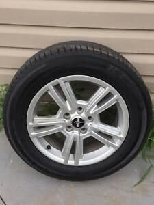 4 Mustang Rims & Tires For Sale.. ( KF550 ) (215/65R17 )