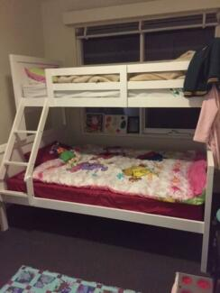 SOLD - BARN single over double bunk bed
