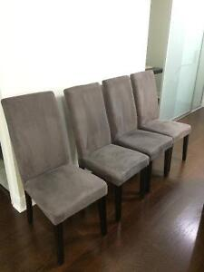 Grey Parsons Dining Chairs