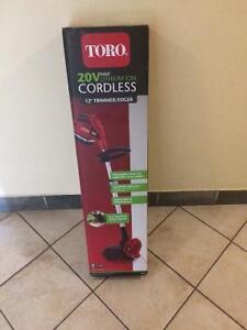 Toro 20vmax lithium-ion cordless  12 trimmer/edger